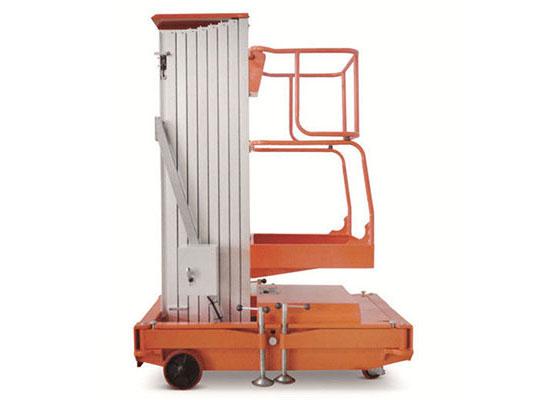 单桅柱铝合金升降机-上海牛力机械公司图片